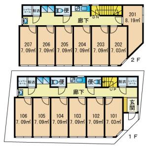 HanasakasuHEIWAJIMA - Guest House in Ota-ku Floorplan