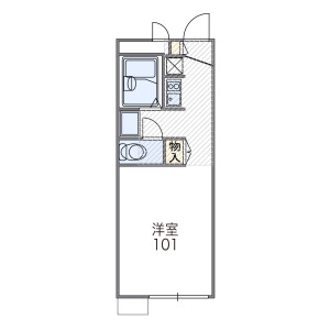 1K Apartment in Umezu ishinadacho - Kyoto-shi Ukyo-ku Floorplan