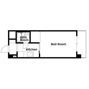 1K Mansion in Honkawaracho - Kyoto-shi Higashiyama-ku Floorplan