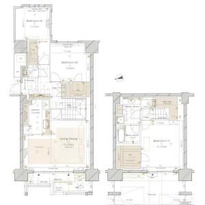 3LDK Mansion in Azabumamianacho - Minato-ku Floorplan