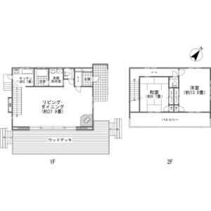 2LDK {building type} in Hotchi - Kitasaku-gun Karuizawa-machi Floorplan
