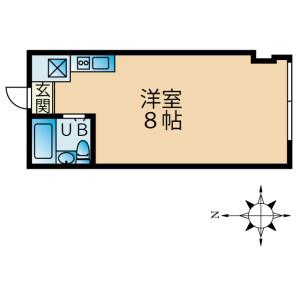 1R Mansion in Takada - Toshima-ku Floorplan