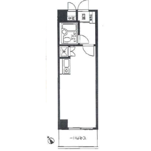 1R {building type} in Yotsuya - Shinjuku-ku Floorplan