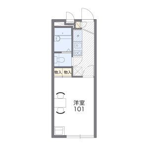 1K Mansion in Motoimaizumi - Utsunomiya-shi Floorplan