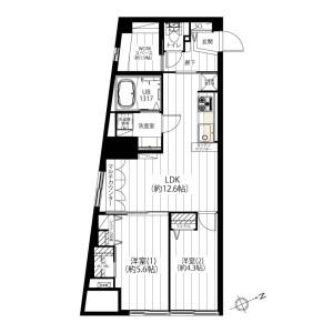 2LDK {building type} in Sangenjaya - Setagaya-ku Floorplan