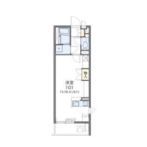 1R Mansion in Sannoshita - Tama-shi Floorplan