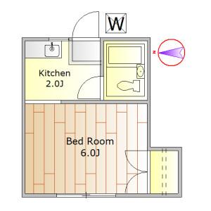 1K Apartment in Meguro - Meguro-ku Floorplan