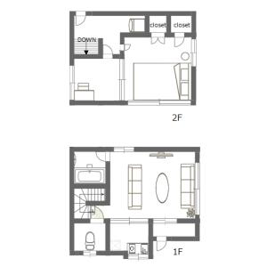 2DK House in Hommachi - Shibuya-ku Floorplan