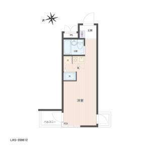 1R {building type} in Okudo - Katsushika-ku Floorplan