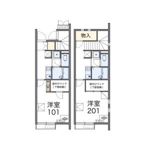 1K Apartment in Ichiriyama - Otsu-shi Floorplan