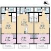 1LDK Apartment to Rent in Chofu-shi Floorplan