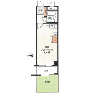 1R {building type} in Ichigayayakuojimachi - Shinjuku-ku Floorplan