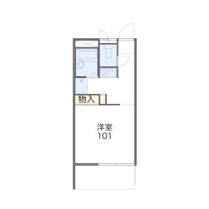 1K Mansion in Azumacho - Saitama-shi Omiya-ku Floorplan
