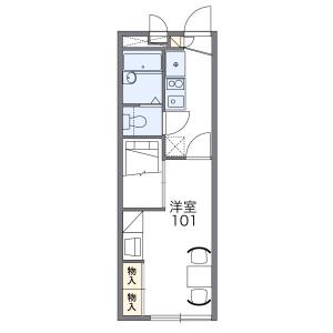 堺市美原区菩提-1K公寓 楼层布局