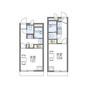 1K Apartment in Mizudocho - Amagasaki-shi Floorplan