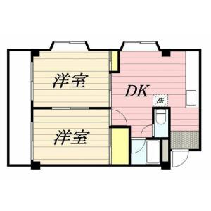 练马区桜台-2K公寓大厦 楼层布局
