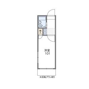 1K Apartment in Toyama(3-chome18.21-ban) - Shinjuku-ku Floorplan