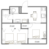 2DK Apartment to Rent in Suginami-ku Floorplan