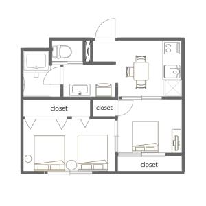 2DK Mansion in Takaidonishi - Suginami-ku Floorplan