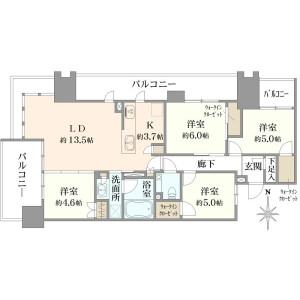 4LDK {building type} in Ariake - Koto-ku Floorplan