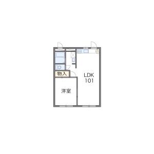 1LDK Mansion in Nisshincho - Fuchu-shi Floorplan