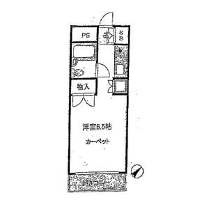 1R Mansion in Higashikanda - Chiyoda-ku Floorplan