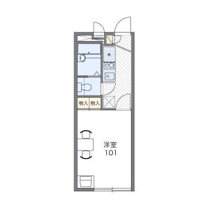 1K Apartment in Hibarigaokakita - Nishitokyo-shi Floorplan
