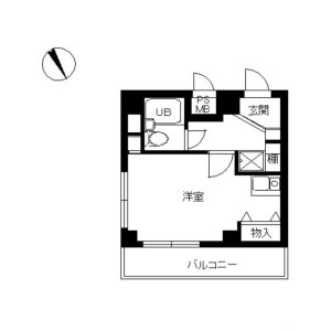 世田谷区玉川台-1K公寓大厦 楼层布局