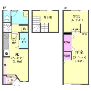 1DK Apartment in Minamioi - Shinagawa-ku Floorplan