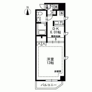 1R Mansion in Taito - Taito-ku Floorplan