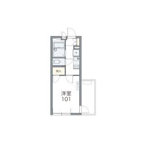 1K Apartment in Honcho - Funabashi-shi Floorplan