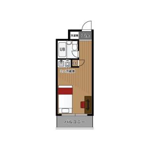 1R Mansion in Kashimada - Kawasaki-shi Saiwai-ku Floorplan