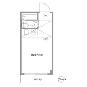 新宿區北新宿-1R公寓大廈 房間格局