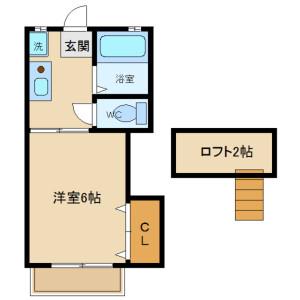 1K Apartment in Kojimacho - Chofu-shi Floorplan