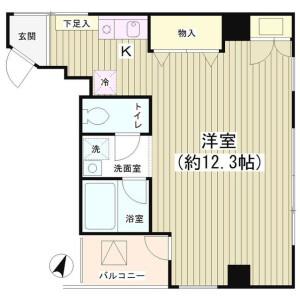 1K Mansion in Kandatacho - Chiyoda-ku Floorplan