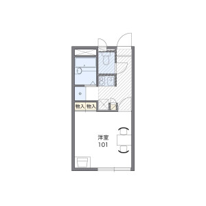 1K Apartment in Aokicho - Nishinomiya-shi Floorplan