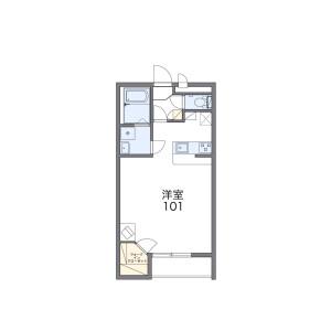 堺市美原区多治井-1K公寓大厦 楼层布局