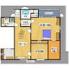 2SLDK Apartment to Rent in Osaka-shi Hirano-ku Floorplan