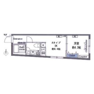1DK Mansion in Shinkamata - Ota-ku Floorplan