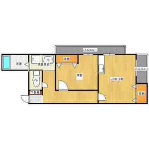 1LDK Mansion in Furuichi - Osaka-shi Joto-ku Floorplan