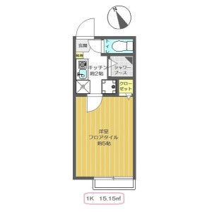 1K Apartment in Minamiikebukuro - Toshima-ku Floorplan