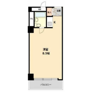 新宿区歌舞伎町-1R公寓大厦 楼层布局