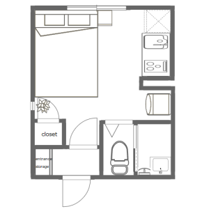 1R Mansion in Ishiwara - Sumida-ku Floorplan