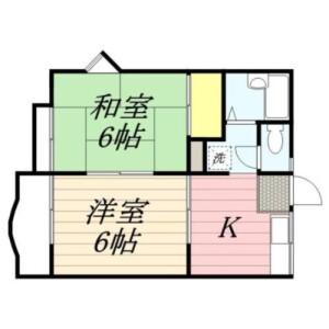 2DK Apartment in Horikiri - Katsushika-ku Floorplan
