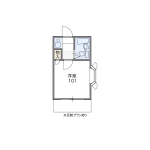 1R Apartment in Akatsutsumi - Setagaya-ku Floorplan
