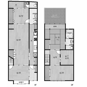 6SK {building type} in Sujaku bunkicho - Kyoto-shi Shimogyo-ku Floorplan