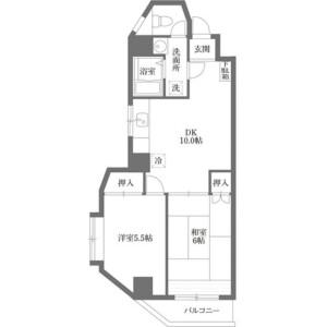 2LDK Mansion in Minamicho - Warabi-shi Floorplan