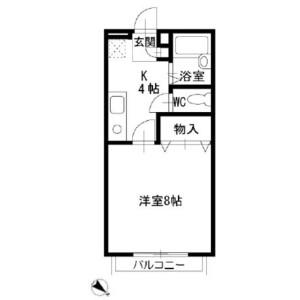 1K Apartment in Sonnocho - Chiba-shi Inage-ku Floorplan