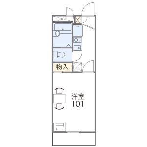 1K Mansion in Toyosato - Osaka-shi Higashiyodogawa-ku Floorplan