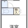 在名古屋市天白區內租賃1K 公寓 的房產 房間格局